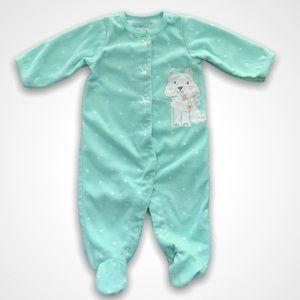 4/$20🥳 Turquoise Polkadot Fleece Sleeper